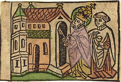 German 15th Century, Saint Peter As Founder Of The Church Art Print