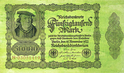 German Banknote, 1922 Art Print