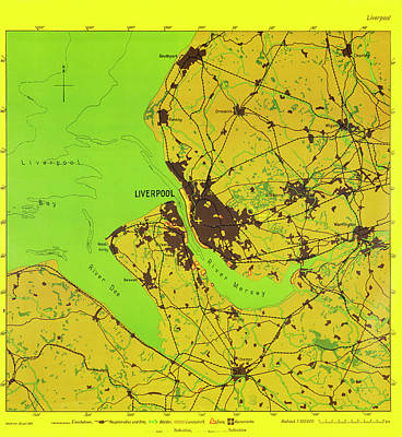 Liverpool Photograph - German Bombing Map Of Liverpool by British Library