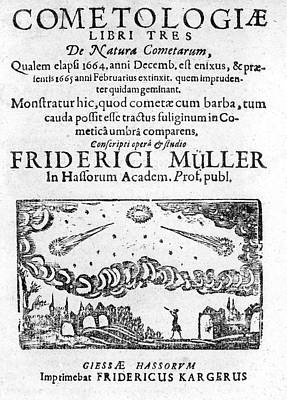 Natura Photograph - German Book On The Comet Of 1664-5 by Royal Astronomical Society