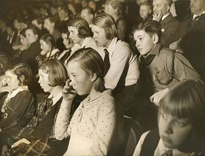 German Children At A Theater Art Print by Everett