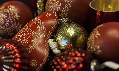 Photograph - German Heart Christmas Decorations by Amber Kresge