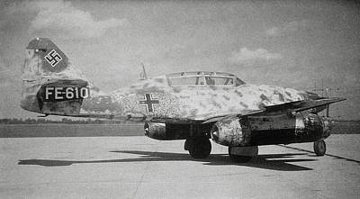 German Me 262 Wwii Jet Fighter Art Print by Science Photo Library