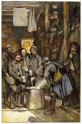 German Prisoners In A French  Camp Art Print