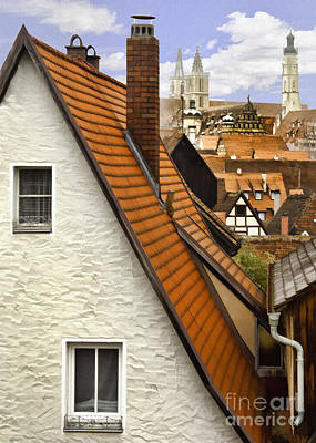 Photograph - German Rooftops II by Sharon Foster