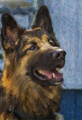 Painting - German Shepard by Bill Linhares