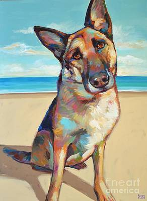 Painting - German Shepard  by Robert Phelps