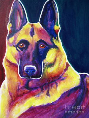 Dawgart Painting - German Shepherd - Burner by Alicia VanNoy Call