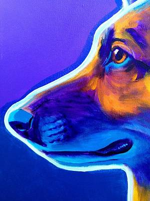 Dog Close-up Painting - German Shepherd - Face by Alicia VanNoy Call
