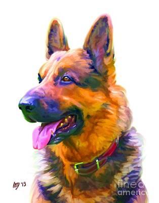 Buy Dog Art Digital Art - German Shepherd Art by Iain McDonald