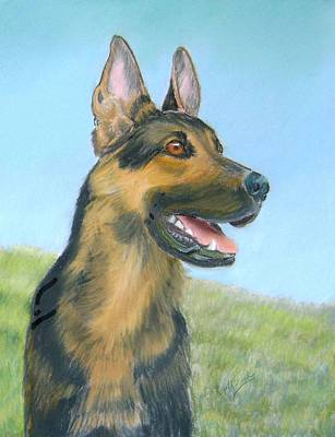 German Shepherd Dog Art Print by Ruth Seal