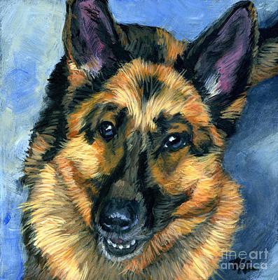 German Shepherd Art Print by Hope Lane