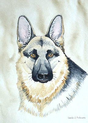 Painting - German Shepherd by Laurie Anderson