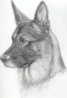 German Shepherd Art Print by Lorah Buchanan