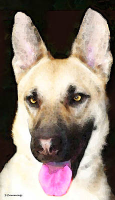 German Shepherd Painting - German Shepherd - Lover by Sharon Cummings