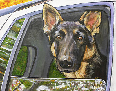 Painting - German Shepherd  by Meghan OHare