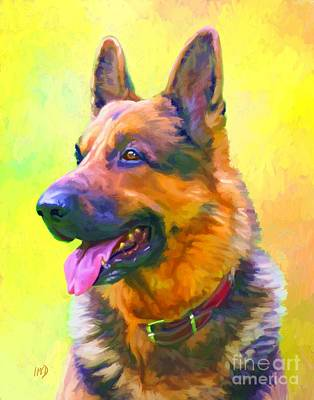 German Shepherd Portrait Art Print by Iain McDonald
