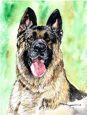 German Shepherd Art Print by Tracy Rose Moyers
