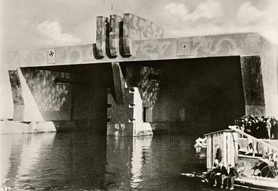 German U-boat Pens Art Print by Eye On The Reich: German Propaganda Photographs/new York Public Library