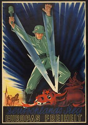 German World War 2 Poster. Deutschlands Art Print