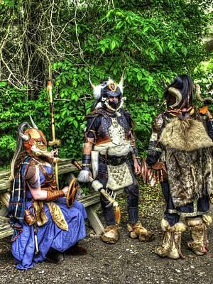 Germanics Barbarian Knights V1 Art Print by John Straton