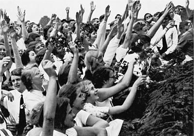 Young Man Photograph - Germans Cheering Hitler by Underwood Archives