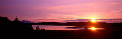Pastel Sky Photograph - Germany , Forggen Lake, Sunset by Panoramic Images