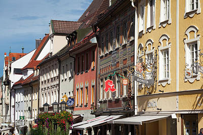 Bayern Photograph - Germany, Bavaria, Fussen by Walter Bibikow