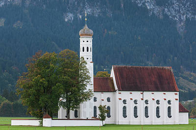 Bayern Photograph - Germany, Bavaria, Hohenschwangau, St by Walter Bibikow