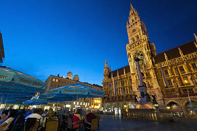 Marienplatz Photograph - Germany, Bavaria, Marienplatz Munch by Ian Cumming