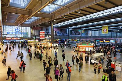 Germany, Bavaria, Munich, Hauptbahnhof Art Print by Walter Bibikow