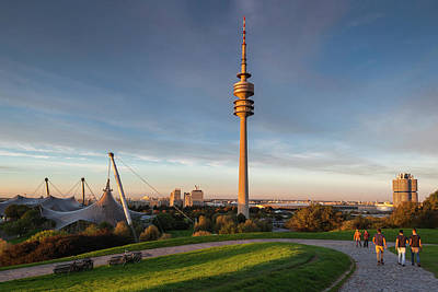 Munich Photograph - Germany, Bavaria, Munich, Olympic Park by Walter Bibikow