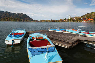 Bayern Photograph - Germany, Bavaria, Schliersee Lake by Walter Bibikow