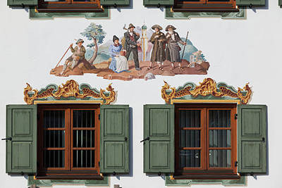 Bavarian Photograph - Germany, Bavaria, Wallgau, Bavarian by Walter Bibikow