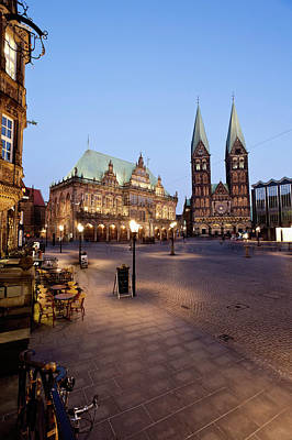 Germany, Bremen,  View Of Town Hall At Art Print by Westend61
