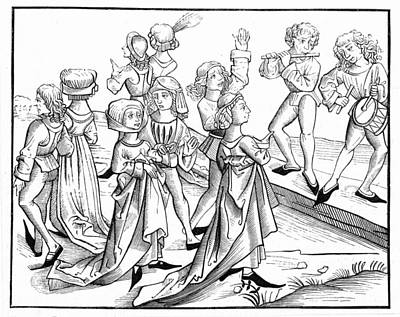 Germany Dancers, 1493 Art Print by Granger