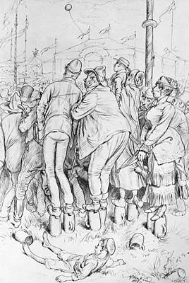 Octoberfest Drawing - Germany Fair Crowd, 1881 by Granger