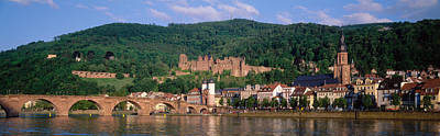 Small Towns Photograph - Germany, Heidelberg, Neckar River by Panoramic Images