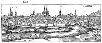 Lubeck Painting - Germany L�beck, 1493 by Granger