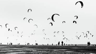 Kite Photograph - Germany - Modern Beach Life by Michael Jurek
