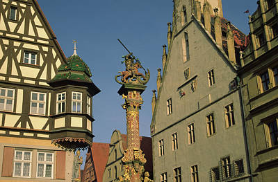 Rothenburg Photograph - Germany, Rothenburg, Looking by Jaynes Gallery