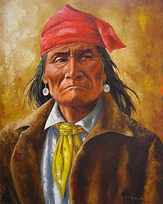Cowboys And Indians Painting - Geromino In Capture by Jeroem Vogschmidt