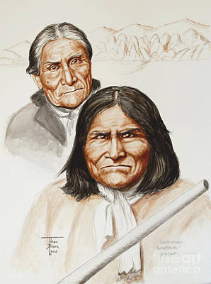 Painting - Geronimo - Appache by Art By - Ti   Tolpo Bader