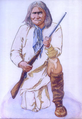 Painting - Geronimo by Bryan Bustard