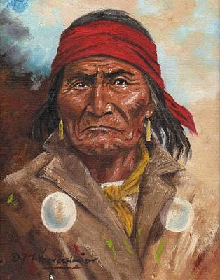 Cowboys And Indians Painting - Geronimo by Jeroem Vogsmcnidt