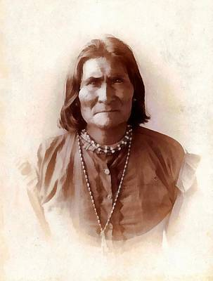 Geronimo Native American Chief Art Print by Unknown