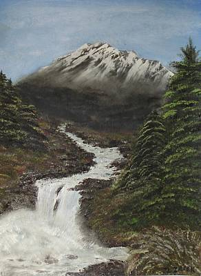 Art Print featuring the painting Gerri's Mountain by J L Zarek