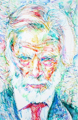 Painting - Gerry Mulligan - Portrait by Fabrizio Cassetta