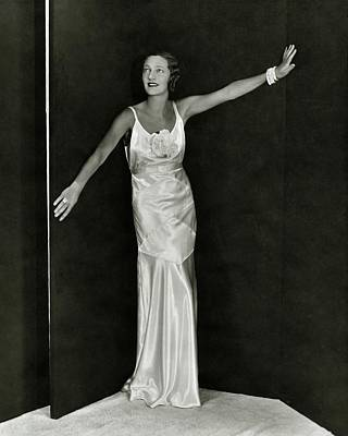 Diamond Bracelet Photograph - Gertrude Lawrence In A Molyneux Dress by George Hoyningen-Huen?