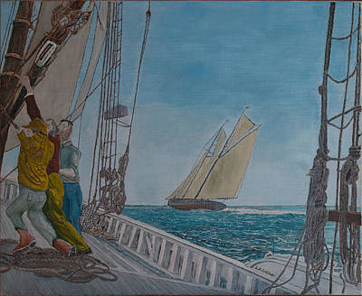 Painting - Gertrude L.thebaud From The Deck Of Elsie by Laurence Dahlmer